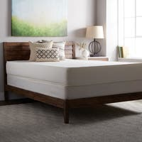 Select Luxury Flippable Medium Firm 10-inch King Size Foam Mattress and Foundation Set - White