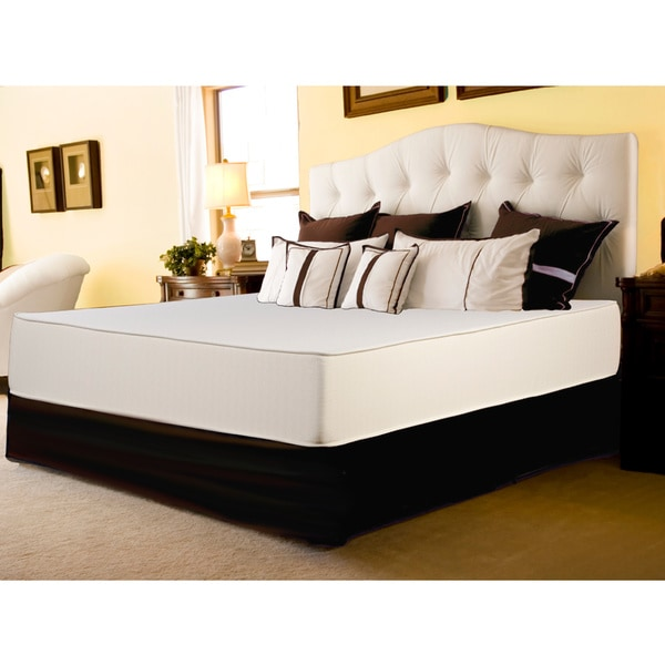 Select Luxury Flippable Firm 10-inch King Size Foam Mattress and Foundation Set
