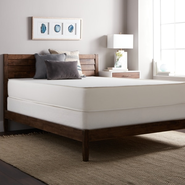 Select Luxury Flippable Firm 10-inch Queen Size Foam Mattress and Foundation Set