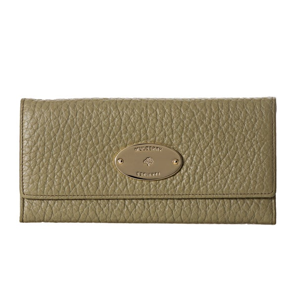 Mulberry Olive Textured Leather Continental Wallet