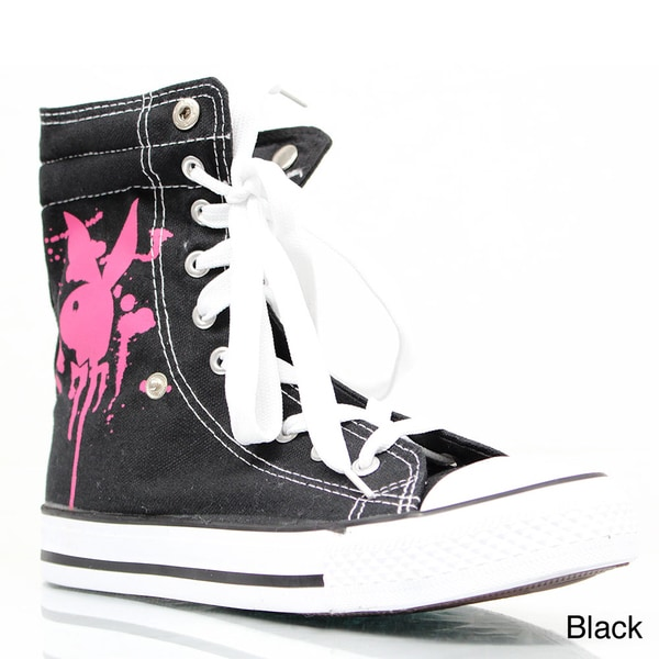 Playboy Women's Mid-top Lace-up Sneakers