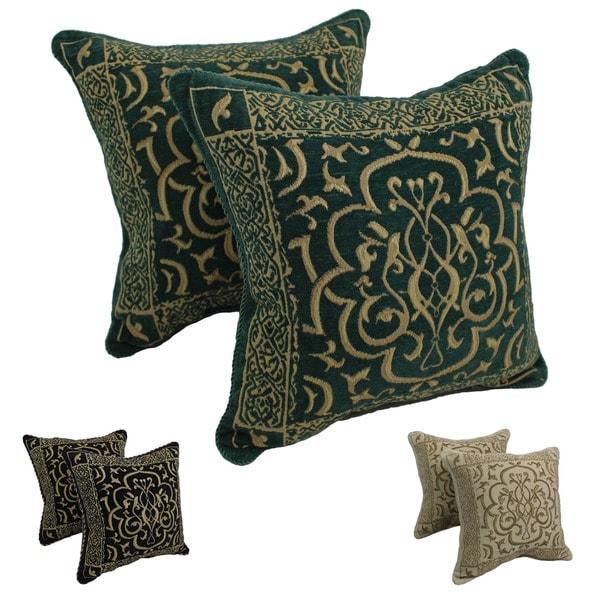 Blazing Needles Chenille Corded Byzantium Throw Pillows (Set of 2)