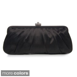 J. Furmani Women's Large Satin Clutch