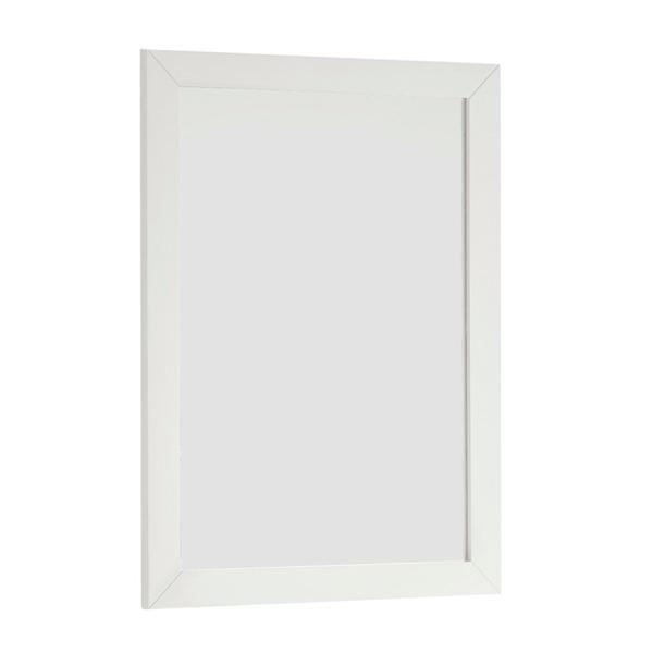 WYNDENHALL Salem 22 x 30 White Bath Vanity Decor Mirror