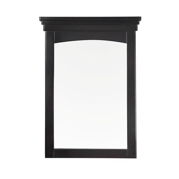 WYNDENHALL Louisiana 22 x 30 Black Bath Vanity Decor Mirror