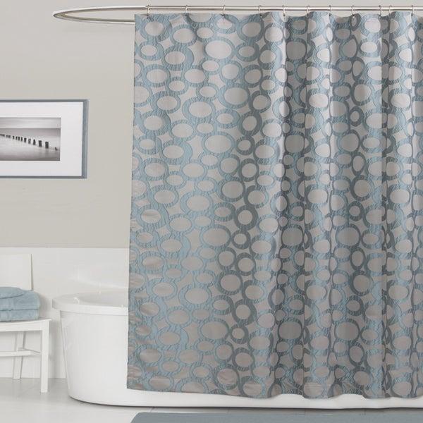 Lush Decor Orbit Blue Shower Curtain