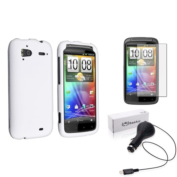 BasAcc Case/ Retractable Car Charger/ Protector for HTC Sensation 4G