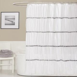 Lush Decor Twinkle White Shower Curtain