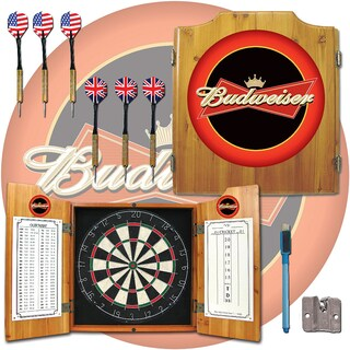 Budweiser Dart Board Cabinet Set (3 options available)