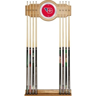 Officially Licensed NCAA Collegiate Wood-and-Mirror Cue Rack