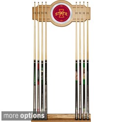 Officially Licensed Collegiate Wood and Mirror Cue Rack
