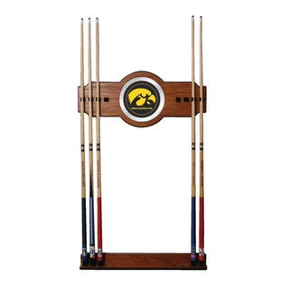 Officially Licensed NCAA Wood and Mirror Wall Cue Rack