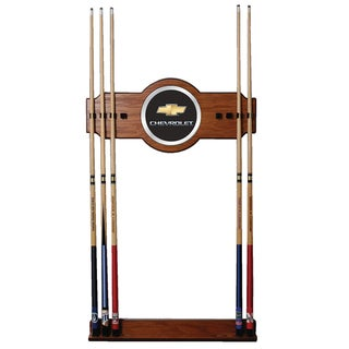 Chevrolet Wood and Mirror 2-piece Cue Rack