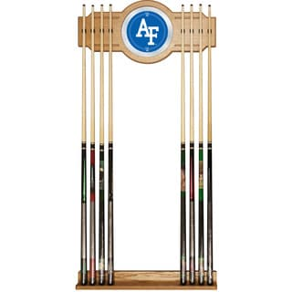 Officially Licensed NCAA Billiard Cue Rack with Mirror