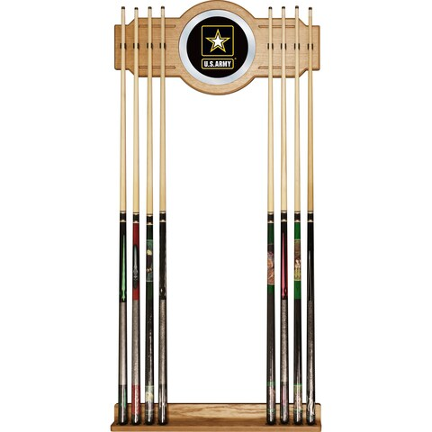 U.S. Army Billiard Cue Rack with Mirror