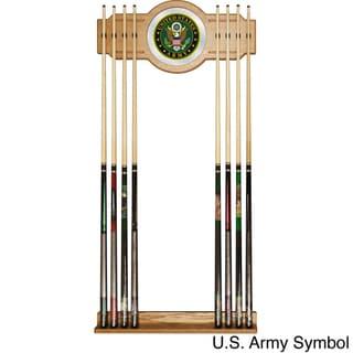 U.S. Army Billiard Cue Rack with Mirror