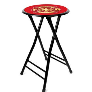 Fire Fighter 24-inch Cushioned Folding Stool|https://ak1.ostkcdn.com/images/products/7720740/P15124049.jpg?impolicy=medium