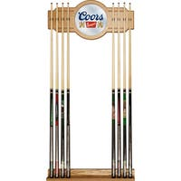 Coors 2 piece Wood and Mirror Wall Cue Rack