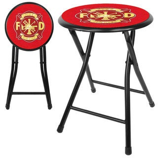 Fire Fighter 18-inch Cushioned Folding Stool