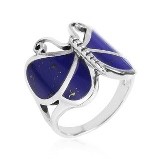 Sterling Sliver Chic Butterfly Motif Ring (Thailand)