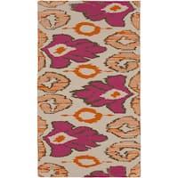 Hand-woven Aemilius Flatweave Reversible Wool Area Rug - 8' x 11'
