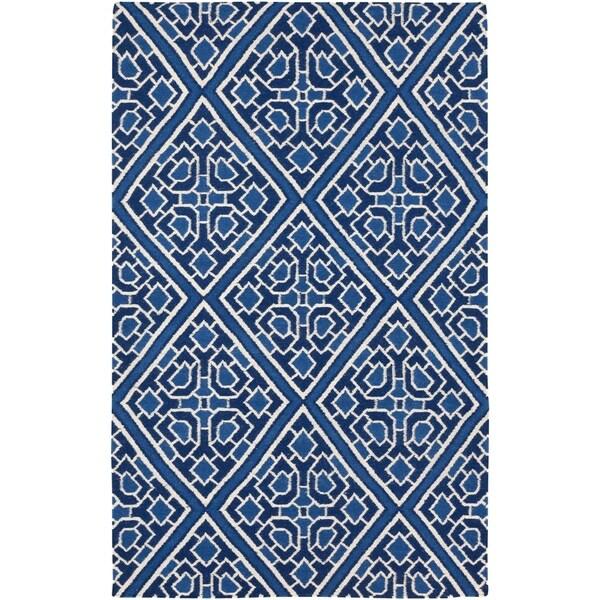Hand-woven Aetos Flatweave Reversible Wool Area Rug - 5' x 8'