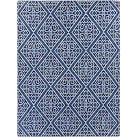 Hand-woven Aetos Flatweave Reversible Wool Area Rug - 8' x 11'