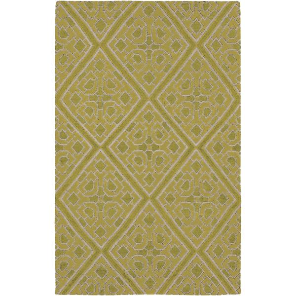 Hand-woven Agatone Flatweave Reversible Wasabi Wool Area Rug - 5' x 8'