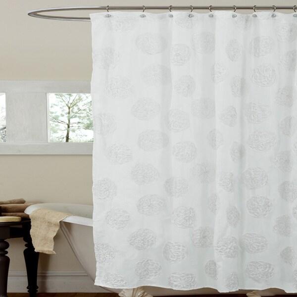 Lush Decor Samantha White Shower Curtain