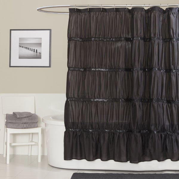 Lush Decor Twinkle Black Shower Curtain Free Shipping On Orders Over 45