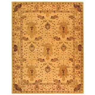 Safavieh Handmade Oushak Ivory Wool Rug (11' x 15')
