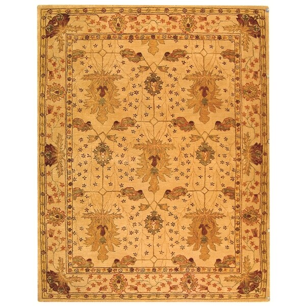 Safavieh Handmade Anatolia Oriental Oushak Ivory Hand-spun Wool Rug - 11' x 15'