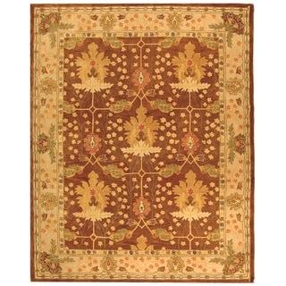 Safavieh Handmade Anatolia Oriental Oushak Brown/ Beige Hand-spun Wool Rug (11' x 15')