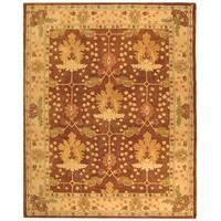 Safavieh Handmade Anatolia Oriental Oushak Brown/ Beige Hand-spun Wool Rug - 11' x 15'