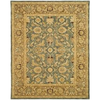 Safavieh Handmade Anatolia Legacy Teal Blue/ Taupe Wool Rug (12' x 15')