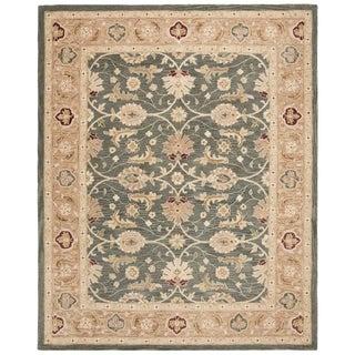 Safavieh Handmade Anatolia Oriental Legacy Teal Blue/ Taupe Hand-spun Wool Rug (12' x 15')