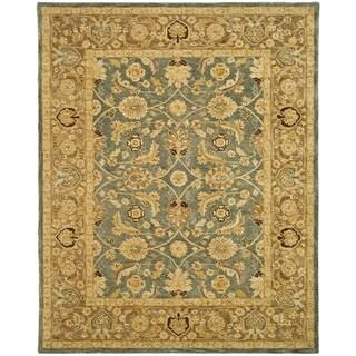 Safavieh Handmade Anatolia Oriental Legacy Teal Blue/ Taupe Hand-spun Wool Rug - 12' x 18'