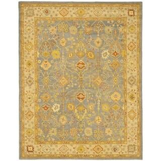 Safavieh Handmade Oushak Slate Blue/ Ivory Wool Rug (12' x 18')