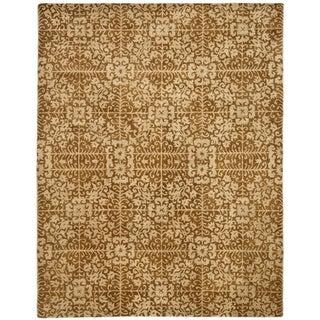 Safavieh Handmade Majestic Beige Wool Rug (12' x 15')