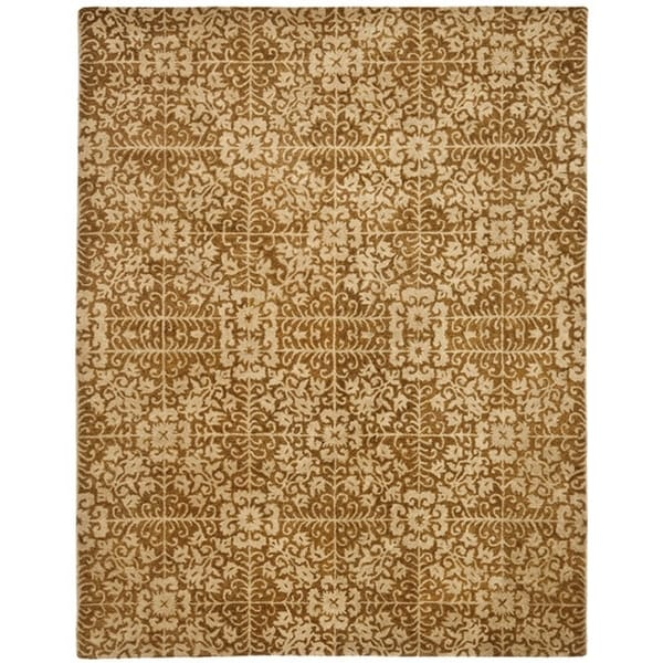 Safavieh Handmade Majestic Beige Wool Rug - 12' x 15'