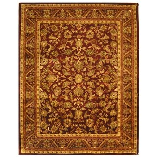 Safavieh Handmade Exquisite Wine/ Gold Wool Rug (11' x 16')