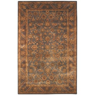 Safavieh Handmade Exquisite Blue/ Gold Wool Rug (11' x 16')