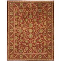 Safavieh Handmade Heirloom Red Wool Rug - 11' x 16'