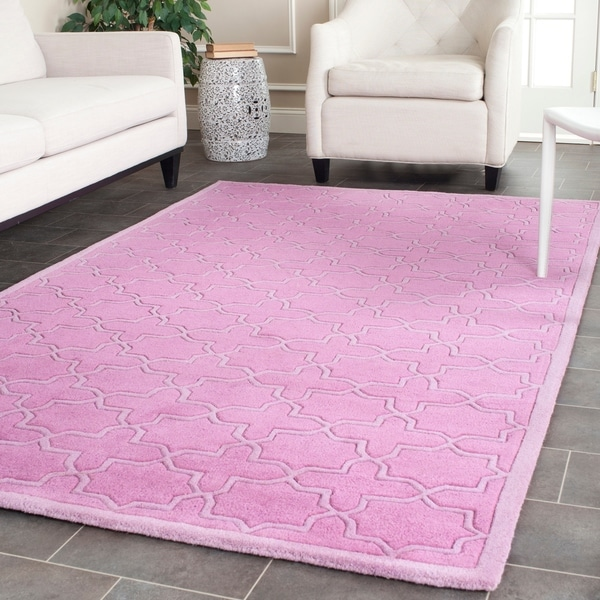 Safavieh Handmade Moroccan Chatham Pink Wool Rug - 8'9 x 12'