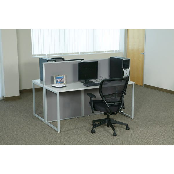 Office Star Box Office Bench Style Cubicle Workstation