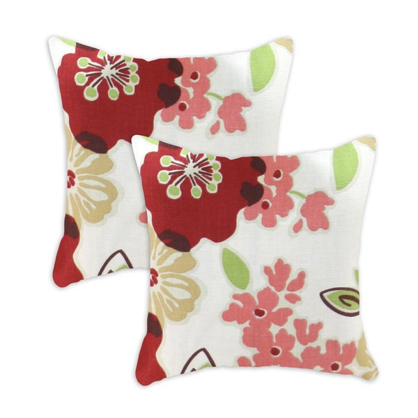 Sydney Rainforest-Hyannis 17X17-inch Decorative Pillows (Set of 2)