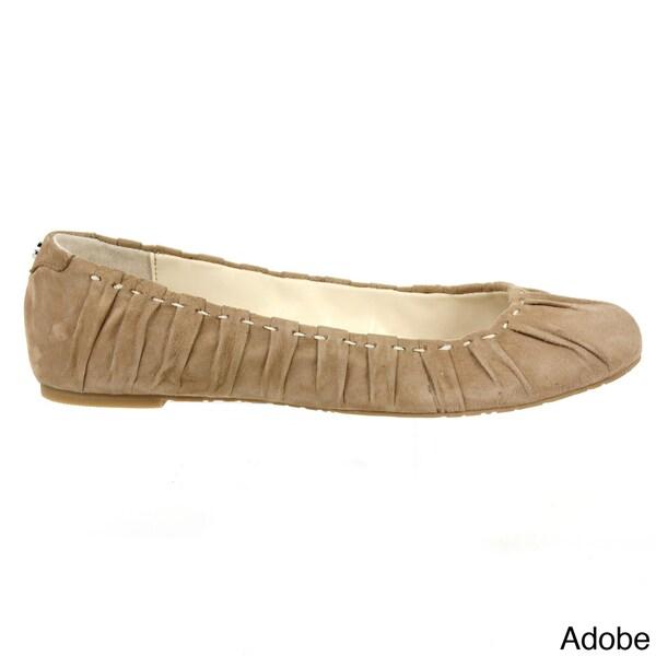 Calvin Klein Women's 'Roma' Kid Leather Flat Shoes