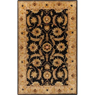 Hand-tufted Actone Floral Border Caviar Semi-worsted New Zealand Wool Rug (2' x 3')