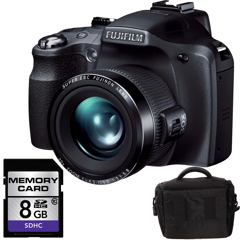Fuji SL300 14MP Digital Camera with 8GB Bundle (Fujifilm ...