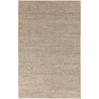 Hand-woven Duluth Casual Solid Beige Wool Rug (2' x 3')